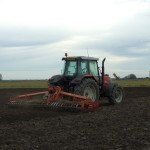 Power harrowing ready for drilling Barley
